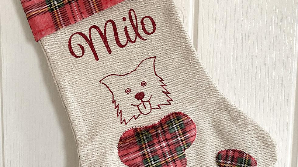 Cat/Dog Christmas Stocking