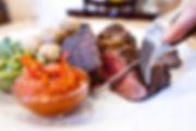Stařený steak s kanárskými bramborami