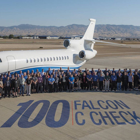 Western Aircraft Completes its 100th Falcon Inspection