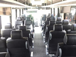 Inside of 35 Passenger Party Bus