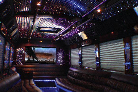 Crown Charter's Limo-Party Bus