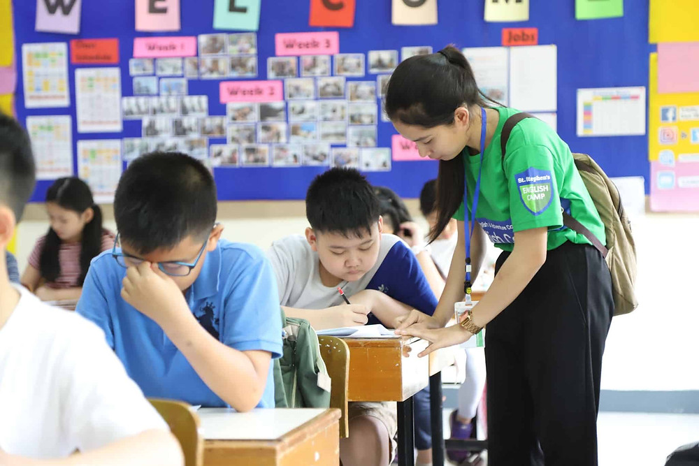 ดูแลนักเรียน ใส่ใจ ค่ายภาษาอังกฤษ ทีซอลทรี