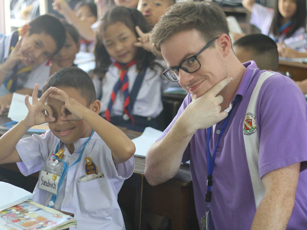 ครูฝรั่ง นักเรียน สนุก