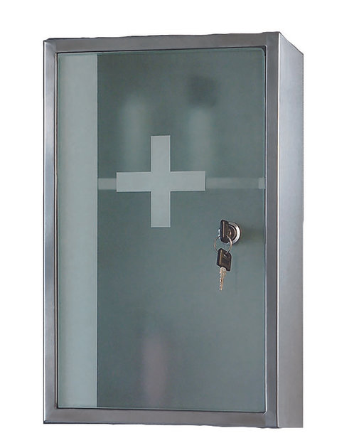 "915K 9"" x 15"" Lockable Series Medicine Cabinet"