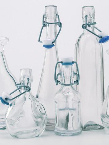 Bouteille en verre d'eau