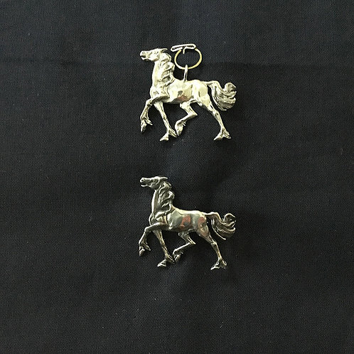 Wild Stallion Pendant and or Pin
