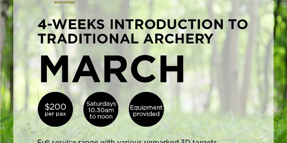 Introduction to Traditional Archery (March)