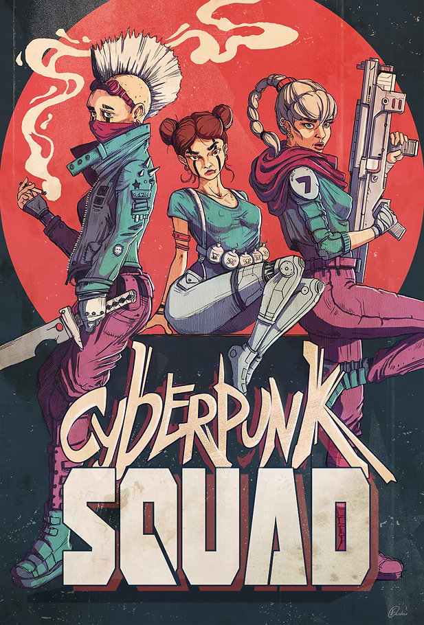 cyberpunkSquad Illustration Art
