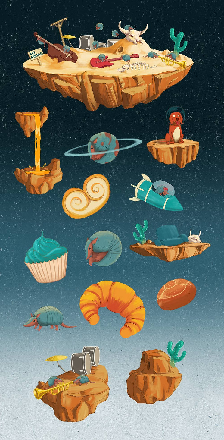 Los Armadillos Illustration Motion Design Musicvideoclip Bigger Picture