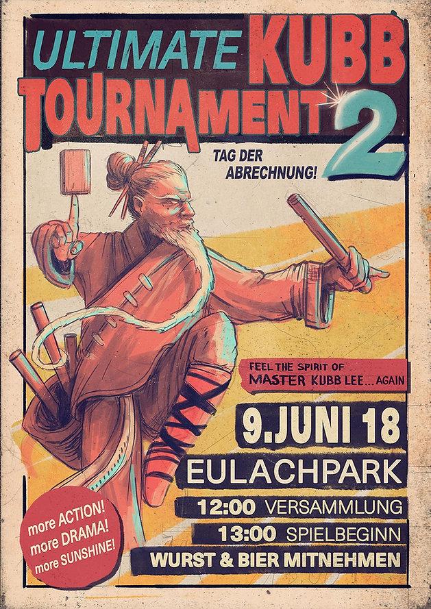Kubbturnier Flyer Poster Event