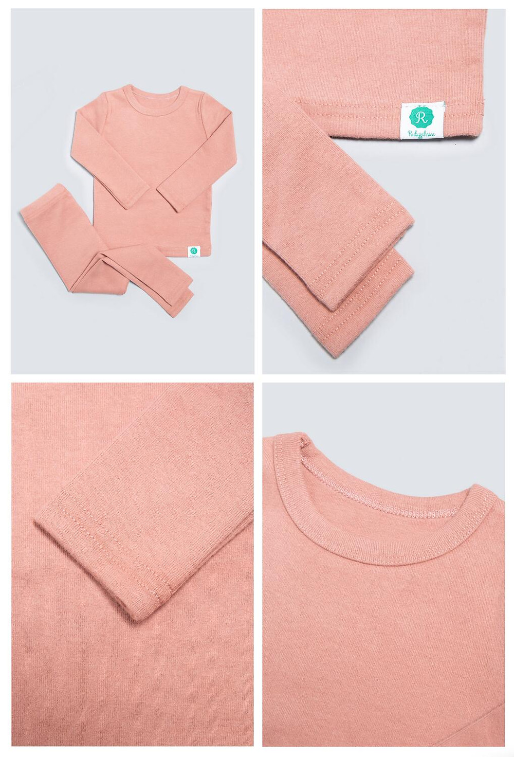Pink Ribbed Pyjamas