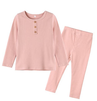 Pink Ribbed Organic Cotton Pyjamas