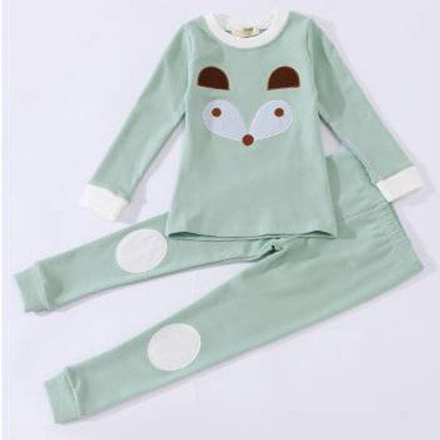 Green Organic Cotton Pyjamas