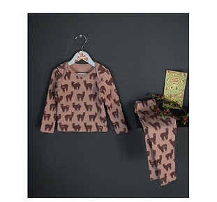Brown Lama Organic Cotton Pyjamas