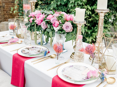 Pink centrepieces