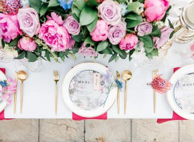 Having a pink micro wedding
