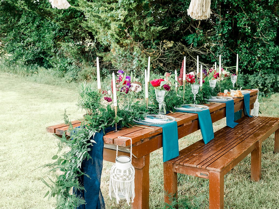 Modern Boho - Planned & designed by Hire Societies