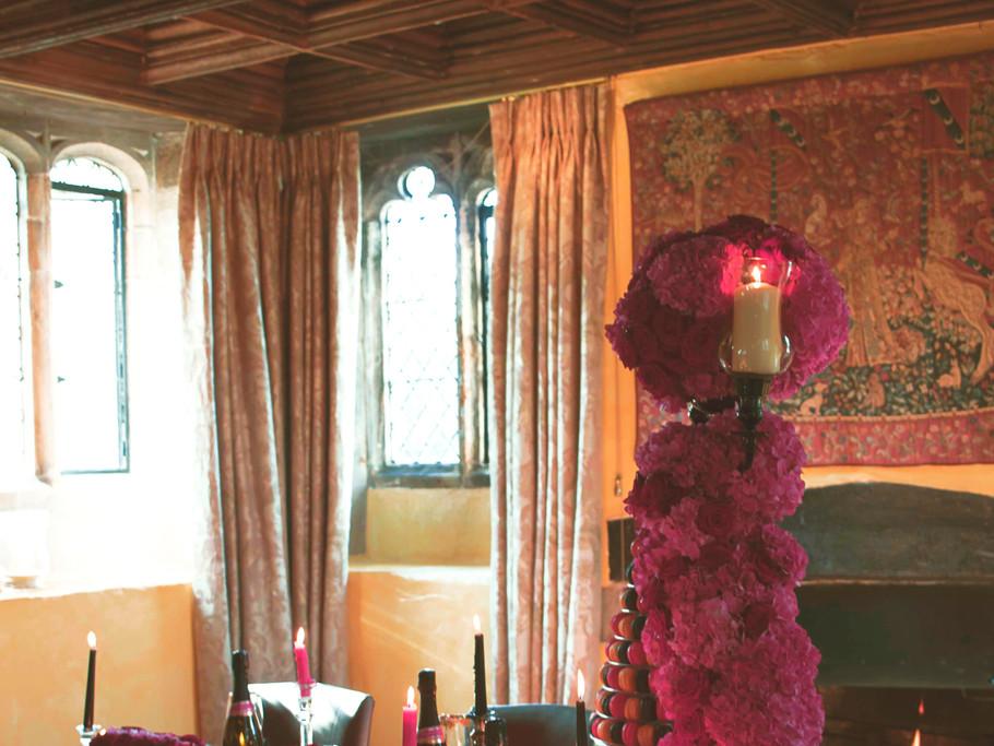 Large Pink Hydrangea Centrepiece
