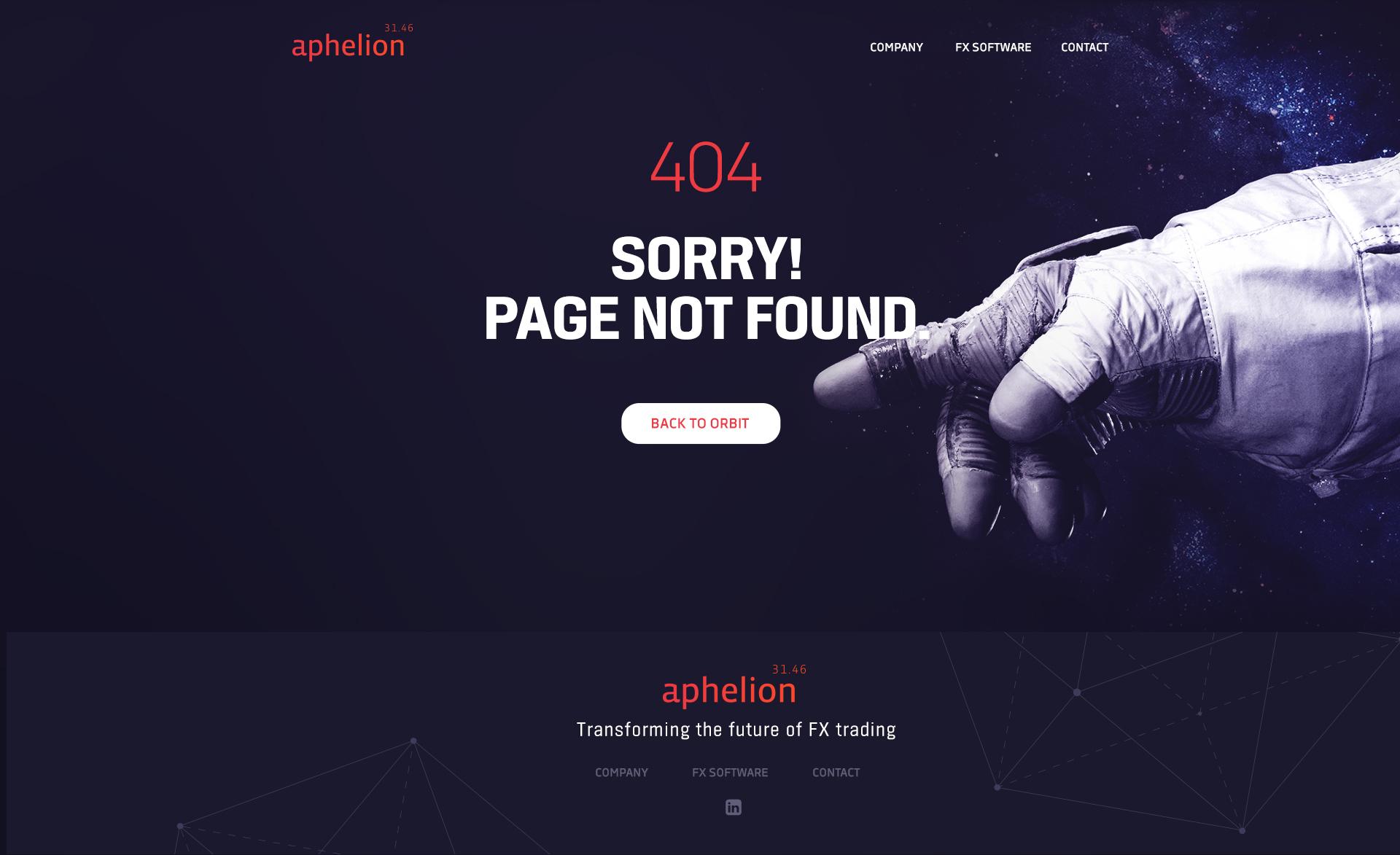 404-sida på webb