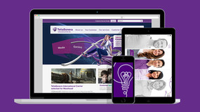 Tre lila sajter åt Telia
