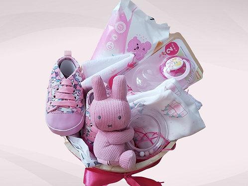 Dárková krabička kulatá - pink