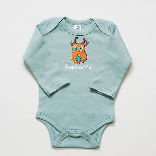 Long Sleeve Onesie - 100% Organic Cotton (Surf)
