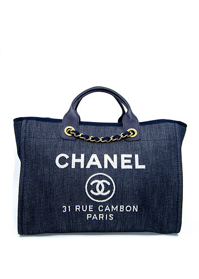 CHANEL Deauville Medium Tote in Blue