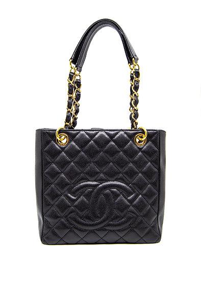 CHANEL Petite Shopper Tote in Black