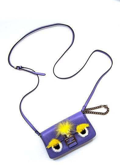 FENDI Micro Monster Baguette Bag in Purple
