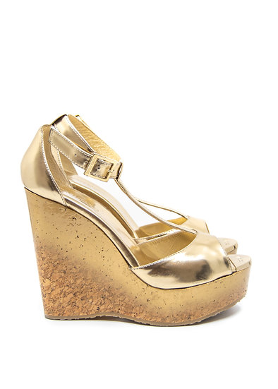 JIMMY CHOO Wedges Gold Ombre (Size 38.5)
