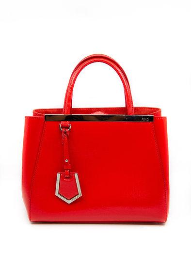 FENDI Petite 2Jours Red Handbag