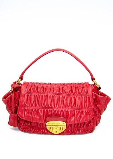 PRADA Nappa Gaufre Bag in Red