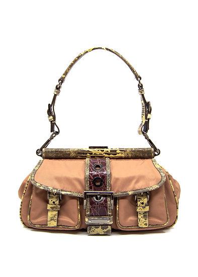 PRADA Cipria Pocket Frame Bag with Lizard