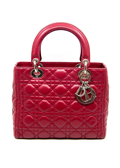 DIOR Lady Dior Bag in Red