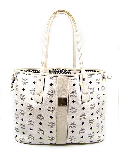 MCM Tote Bag Reversible in White