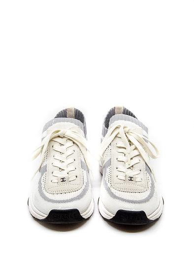CHANEL Sneaker Knitwear with Interlocking CC (Size 38.5)