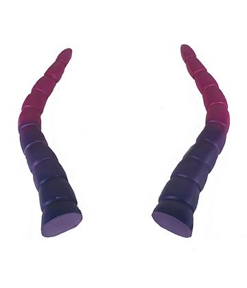 """Baphomet Horns - Purple/Pink """"Ultra-Light"""""""