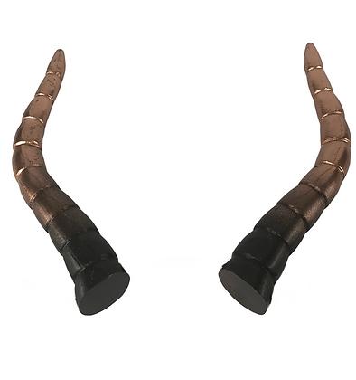 "Baphomet Horns - Black/Bronze ""Ultra-Light"""