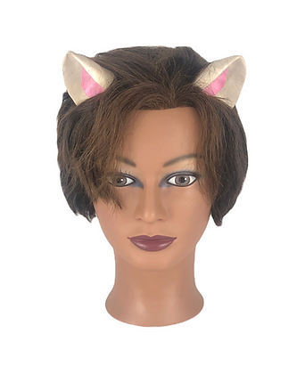 Wholesale Large Cat Ears - White With Pink Inner Ear