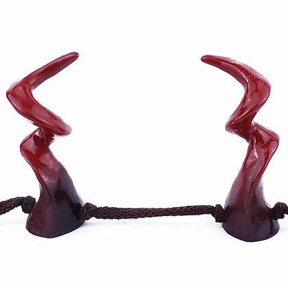 Kudu Horns - Black/Deep Red Ombre