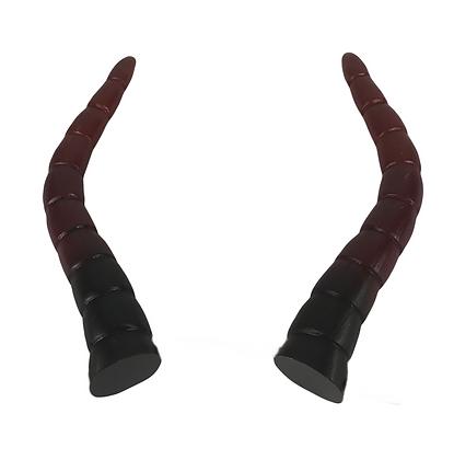 """Baphomet Horns - Black/Deep Red Ombre """"Ultra-Light"""""""