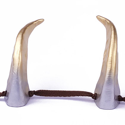 Demon Horns - Silver/Gold Metallic