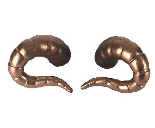 "Tiefling Horns - Black/Bronze  ""Ultra-Light"""