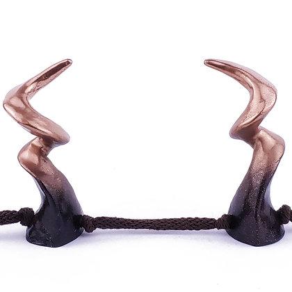 Kudu Horns - Black/Bronze Ombre