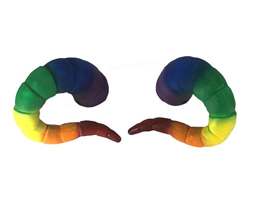 """Tiefling Horns - Rainbow """"Ultra-Light"""""""