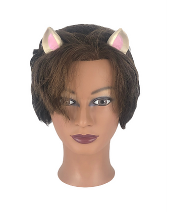 Wholesale Small Cat Ears - White Ears With Black Inner Ear