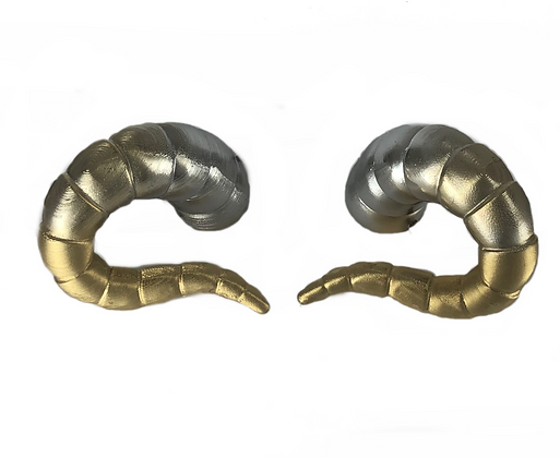 "Tiefling Horns - Silver/Gold ""Ultra-Light"""