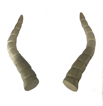 "Baphomet Horns - Natural White ""Ultra-Light"""