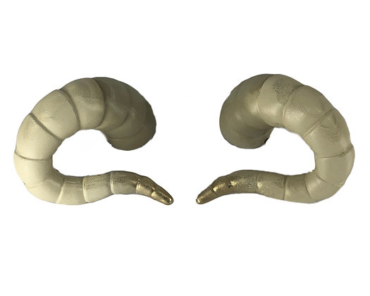 "Tiefling Horns - Natural White ""Ultra-Light"""