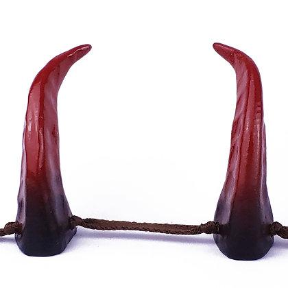 Demon Horns -Black/Deep Red Ombre